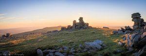running and walking in Dartmoor